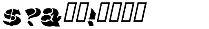 Police Oblique JNL Font OTHER CHARS