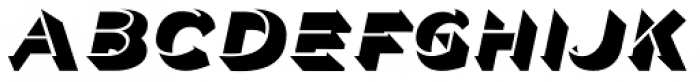 Police Oblique JNL Font UPPERCASE