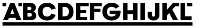 Poligon Black Link Font UPPERCASE
