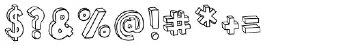 Polina Skeleton Font OTHER CHARS