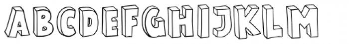 Polina Skeleton Font UPPERCASE