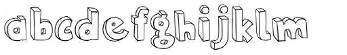 Polina Skeleton Font LOWERCASE