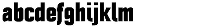 Politica Black Condensed Font LOWERCASE