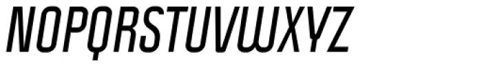 Politica Bold Italic Condensed Font UPPERCASE
