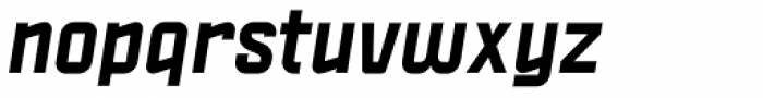 Politica ExtraBold Italic Font LOWERCASE