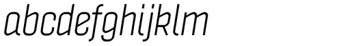 Politica Italic Condensed Font LOWERCASE