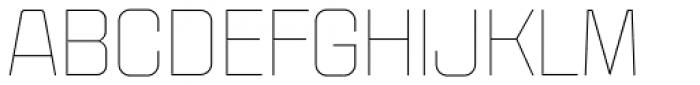 Politica Light Expanded Font UPPERCASE