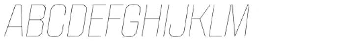 Politica Thin Italic Font UPPERCASE