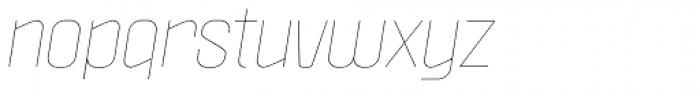 Politica Thin Italic Font LOWERCASE