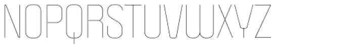 Politica Thin Font UPPERCASE
