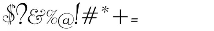 Pompeian Cursive Font OTHER CHARS