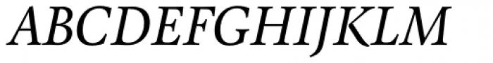 Pona Book Italic Font UPPERCASE