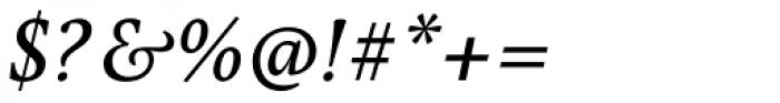Pona Medium Italic Font OTHER CHARS