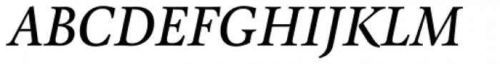 Pona Medium Italic Font UPPERCASE