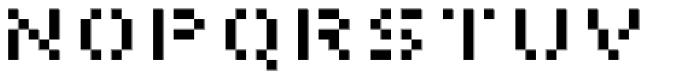 Pony Regular Font UPPERCASE