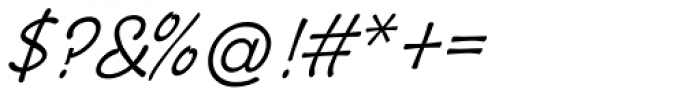 Pony Tale Light Pro Italic Font OTHER CHARS