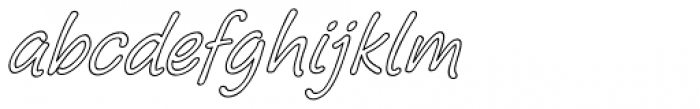 Pony Tale Pro Outline Italic Font LOWERCASE