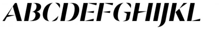 Ponzu Bold Italic Font UPPERCASE