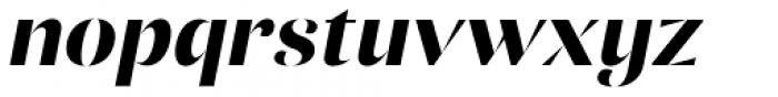 Ponzu Bold Italic Font LOWERCASE