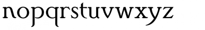 Poole Standard Font LOWERCASE