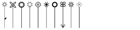 Pop Flowers Font OTHER CHARS