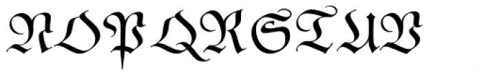 Poppl Fraktur BQ Font UPPERCASE