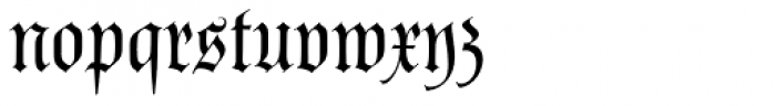 Poppl Fraktur BQ Font LOWERCASE