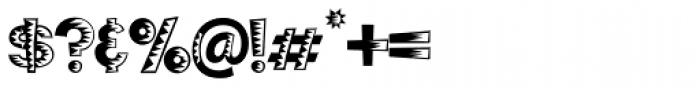 Poptics Delux One Font OTHER CHARS
