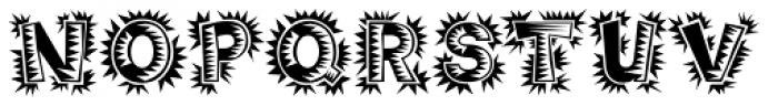 Poptics Delux One Font UPPERCASE