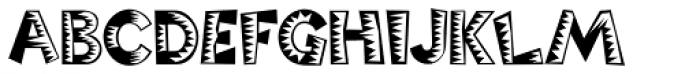 Poptics Delux One Font LOWERCASE