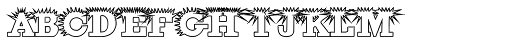 Porcupine White Font LOWERCASE