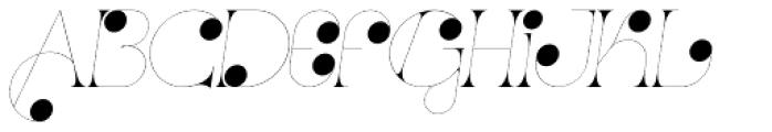 Port Vintage Decorated Italic Font UPPERCASE