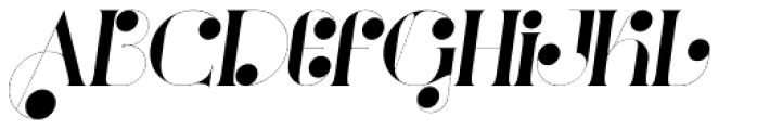 Port Vintage Decorated Italic Font LOWERCASE