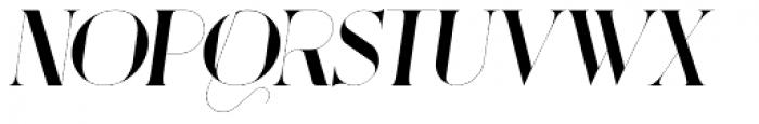Port Vintage Italic Font LOWERCASE