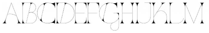 Port Vintage Regular Font UPPERCASE