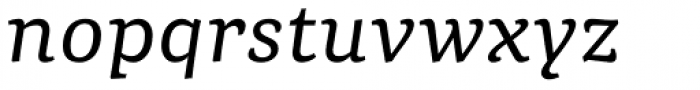 Portada Text Italic Font LOWERCASE