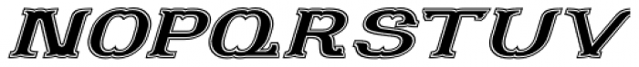 Portello Italic Font UPPERCASE
