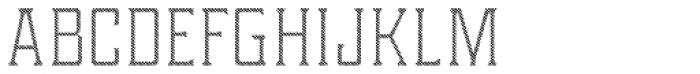 Portsmouth Custom Hatch Font UPPERCASE