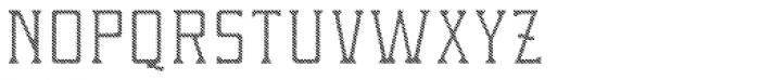 Portsmouth Custom Hatch Font LOWERCASE