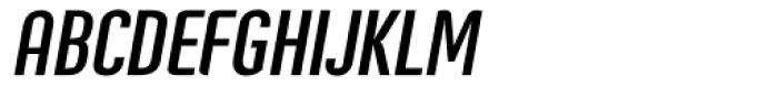 Post Industrial Dark Italic Font UPPERCASE