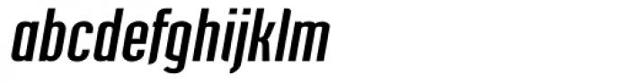 Post Industrial Dark Italic Font LOWERCASE