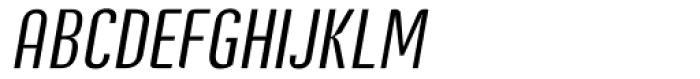 Post Industrial Light Italic Font UPPERCASE