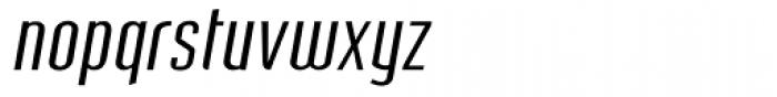 Post Industrial Light Italic Font LOWERCASE