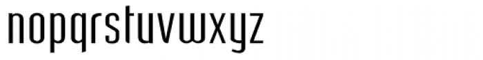 Post Industrial Light Font LOWERCASE