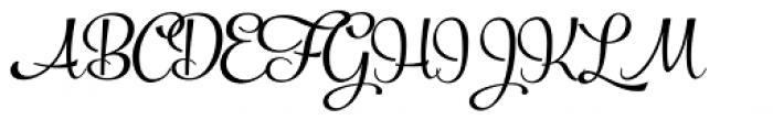 Powder Script Regular Font UPPERCASE
