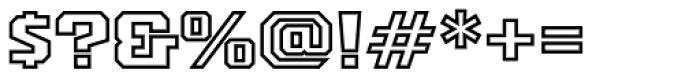 PowerStation Outline Wide Font OTHER CHARS