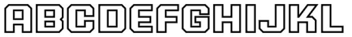 PowerStation Outline Wide Font UPPERCASE