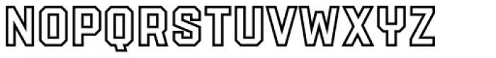 PowerStation Outline Font UPPERCASE