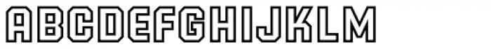 PowerStation Outline Font LOWERCASE
