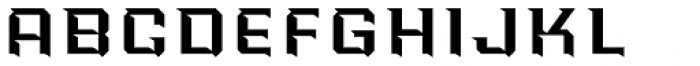 PowerStation Wedge Wide High Font LOWERCASE